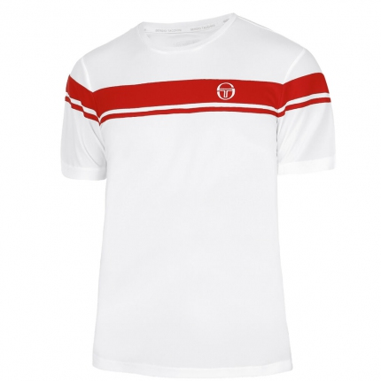 Pánské tenisové tričko Sergio Tacchini Young Line Pro T-Shirt, white/red