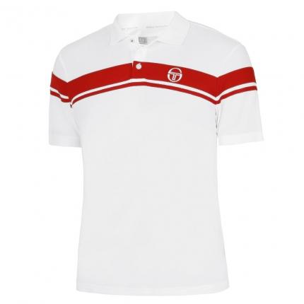 Pánské tenisové tričko Sergio Tacchini Young Line Pro Polo, white/red