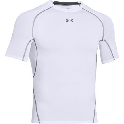 Pánské tričko Under Armour Heat Gear Sonic Shortsleeve Tee, white
