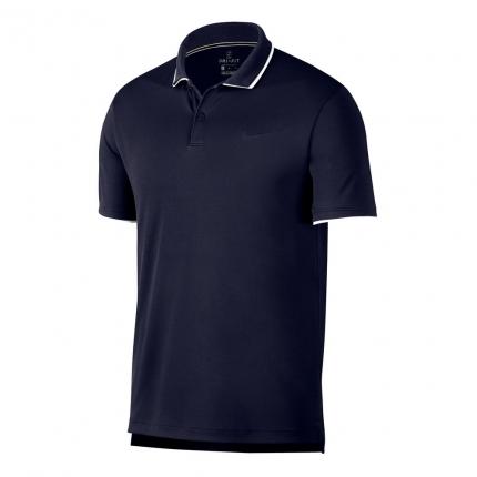 Pánské tenisové tričko Nike Court Dry Polo, obsidian