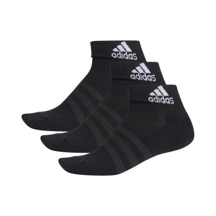 Tenisové ponožky Adidas Cushioning 3er Pack Ankle Socks Unisex, black