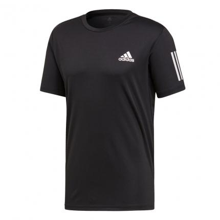 Pánské tenisové tričko Adidas Club 3 Stripes Tee, black