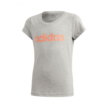 Dětské tričko Adidas Essentials Linear Tee, medium grey heather
