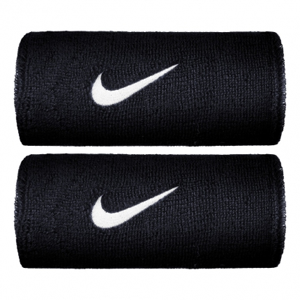 Tenis - Potítka Nike Swoosh Doublewide Wristbands, obsidian