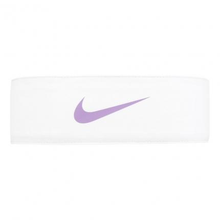 Tenisový šátek Nike Tennis Promo Headband Unisex, white/bright violet