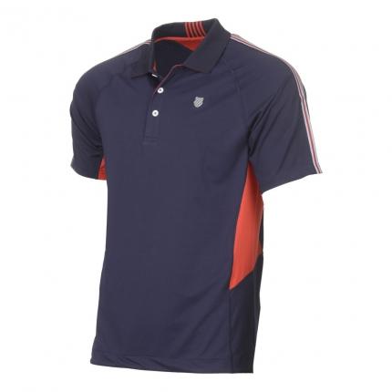 Pánské tenisové tričko K-Swiss Heritage Polo, navy