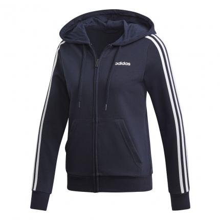Dámská mikina Adidas Essentials 3-Stripes Full-Zip Hoodie, legend ink