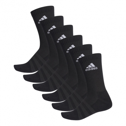 Tenisové ponožky Adidas Cushioning 6er Pack Crew Socks Unisex, black