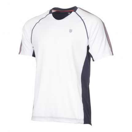 Pánské tenisové tričko K-Swiss Heritage Shortsleeve Tee, white