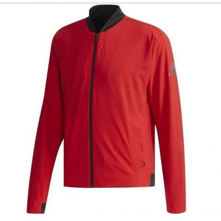 Pánská tenisová bunda Adidas Barricade Jacket, scarlet