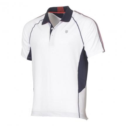Pánské tenisové tričko K-Swiss Heritage Polo, white