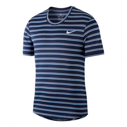 Pánské tenisové tričko Nike Court Dry Team T-Shirt, obsidian