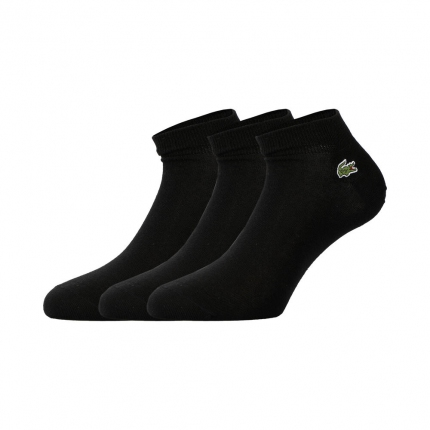 Tenisové ponožky Lacoste Socks 3er Pack, black