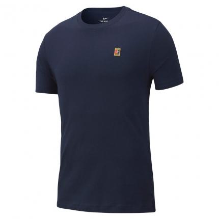 Pánské tenisové tričko Nike Court Tennis Tee, obsidian