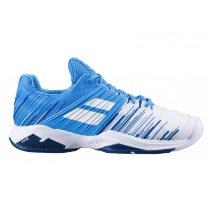 Pánská tenisová obuv Babolat Propulse Fury All Court Men, white/blue