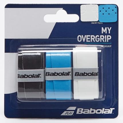 Omotávky Babolat My Grip X3, bk/bl/wh