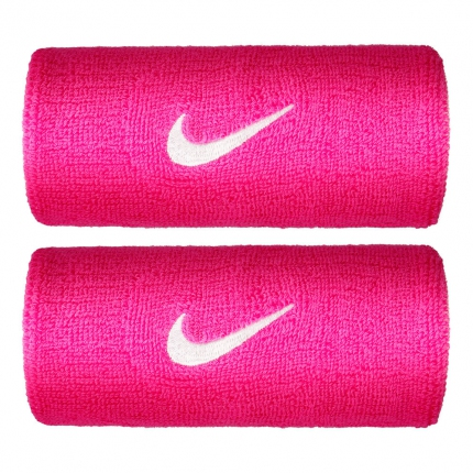 Potítka Nike Swoosh Doublewide Wristbands, vivid pink