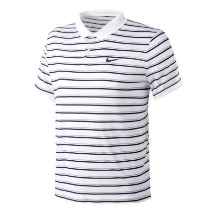 Pánské tenisové tričko Nike Court Dri-Fit Polo, white/dark blue