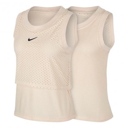 Dámské tenisové tílko Nike Court Dri-Fit Tank-Top, nude