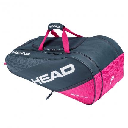 Tenis - Tenisová taška Head Elite All Court, anthracite/pink