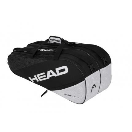 Tenisová taška Head Elite 9R Supercombi, black/white