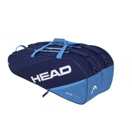 Tenisová taška Head Elite 9R Supercombi, navy/blue