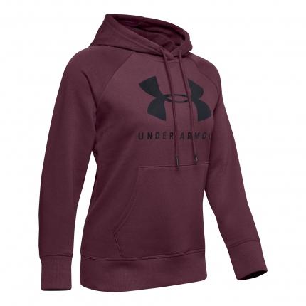 Dámská mikina Under Armour Rival Fleece Sportstyle Graphic Hoodie, level purple