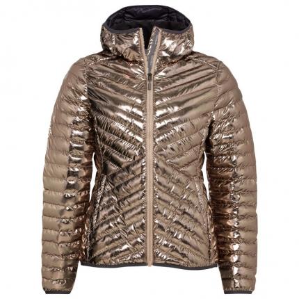 Dámská lyžařská bunda Head Prima Hooded Jacket 2020/21, metallic gold