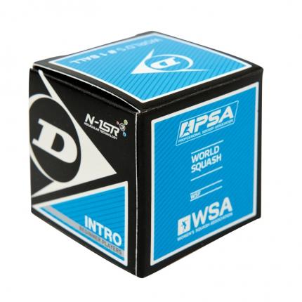 Squashový míč Dunlop INTRO, modrý bez tečky