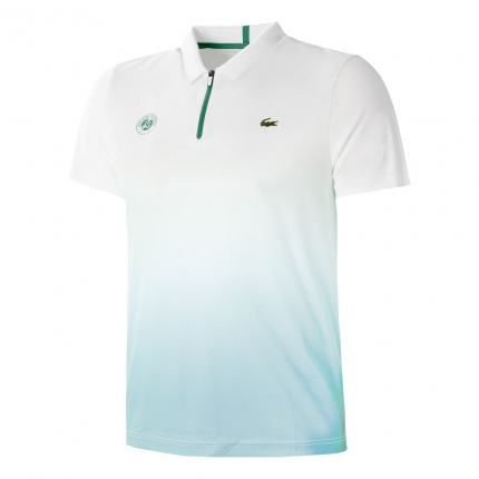 Pánské tenisové tričko Lacoste Roland Garros Polo, light blue
