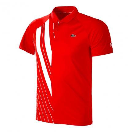 Pánské tenisové tričko Lacoste Polo, red/white