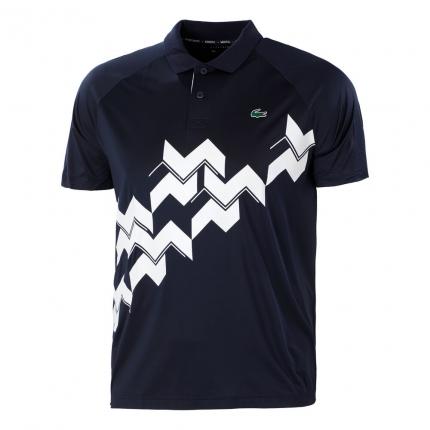 Pánské tenisové tričko Lacoste Polo, dark blue/white
