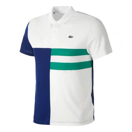 Pánské tenisové tričko Lacoste Polo, white/dark blue