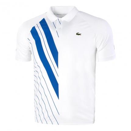 Pánské tenisové tričko Lacoste Polo, white/blue