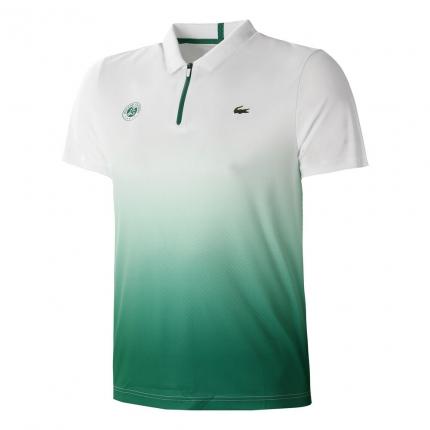 Tenis - Pánské tenisové tričko Lacoste Roland Garros Polo, dark green