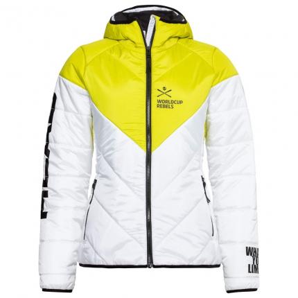 Dámská lyžařská bunda Head Race Star Light Jacket Women 2020/21, white/yellow