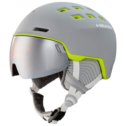 Lyžařská helma Head Rachel 2020/21, grey/lime
