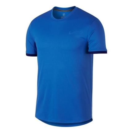 Pánské tenisové tričko Nike Court Dry Colourblocked Top, signal blue