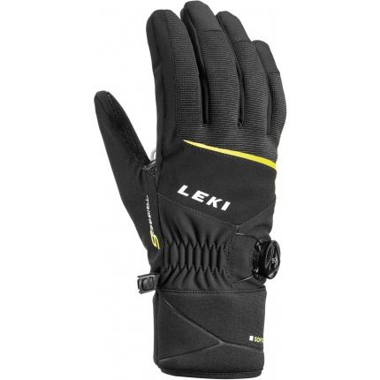 Lyžařské rukavice Leki Progressive Tune S BOA LT 2020/21, black/lime