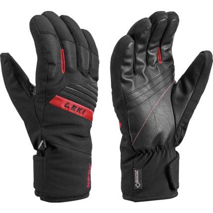 Lyžařské rukavice Leki Space GTX black/red, 2020/21