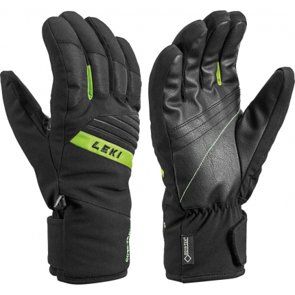 Lyžařské rukavice Leki Space GTX black/lime, 2020/21