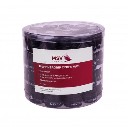 Omotávky MSV Overgrip Cyber Wet 60 ks, black