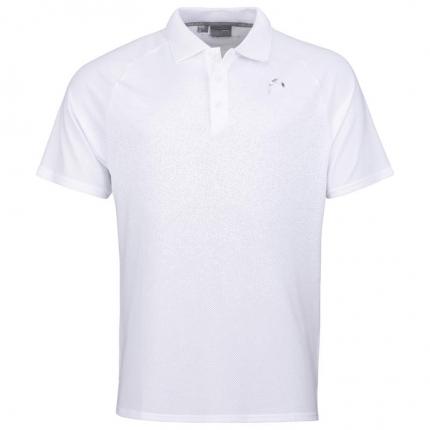 Tenis - Pánské tenisové tričko Head Performance Polo II Shirt, white