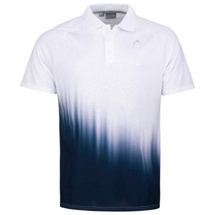 Pánské tenisové tričko Head Performance Polo II Shirt, white/print perf