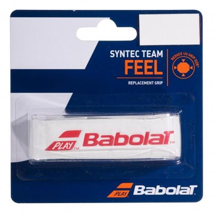Základní grip Babolat Syntec Team, white/red