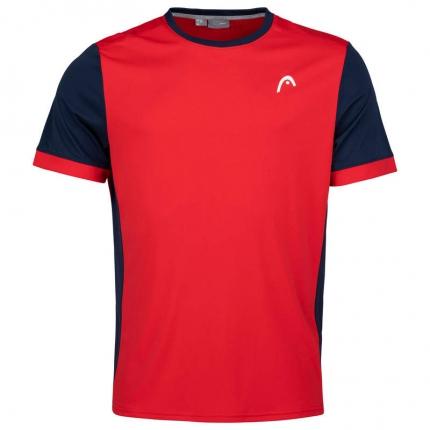 Pánské tenisové tričko Head Davies T-Shirt, red/dark blue