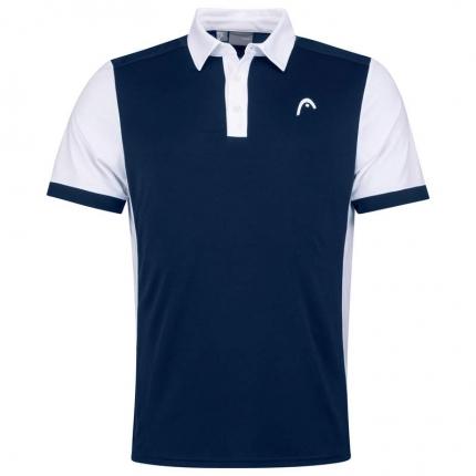 Pánské tenisové tričko Head Davies Polo, dark blue/white