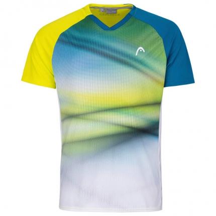 Pánské tenisové tričko Head Striker T-Shirt, yellow/print vision