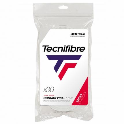 Omotávky Tecnifibre ATP Pro Contact 30 ks, white