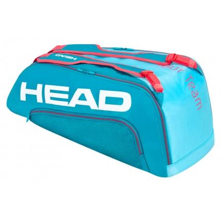 Tenisová taška Head Tour Team 9R Supercombi 2020, blue/pink